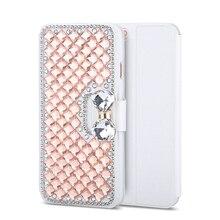 Haissky Флип кожаный чехол для Samsung Galaxy S7 S7 край S6 S5 S4 S3 S8 S8 плюс Чехол роскошные диаманта Bling Rhinestone Fundas