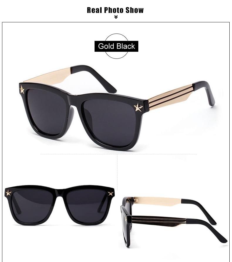 Hipster Stern Streifen Verziert Großen Platz Sonnenbrille Frauen ...