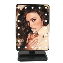 portable 180 rotating make up mirror 20 LED lighted mirror LED touch screen adjustable tabletop lamp mirror