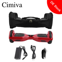 Cimiva 6.5 Inch CE Certificated Hoverboard Electric Self Balance Scooter Two Wheels Hover Board With Carry Bag Lock Charger
