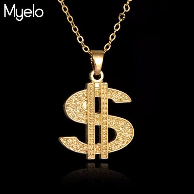 Myelo hip hop jewelry us dollar money pendant necklaces luxury gold myelo hip hop jewelry us dollar money pendant necklaces luxury gold color chain jewelry women accessories aloadofball Images
