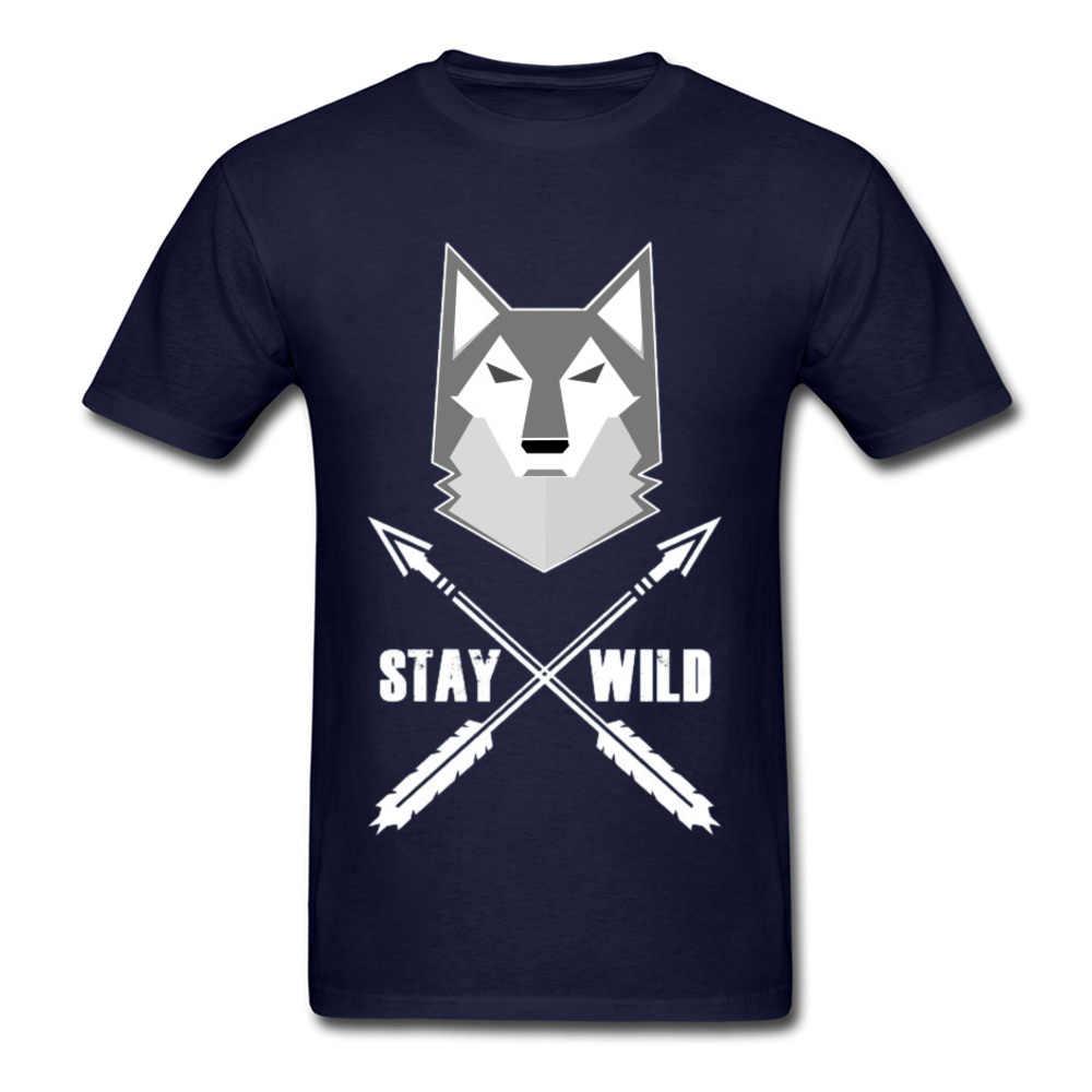 3D Wild Wolf Tシャツ滞在野生 Aniaml ハウリング狼コヨーテおかしいデザイン新しい男性 100% 綿春トップス & Tシャツ