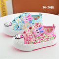 2017 spring new children canvas shoes cute boys girls baby toddler soft soled shoes kids sneakers cartoon baby cloth shoes