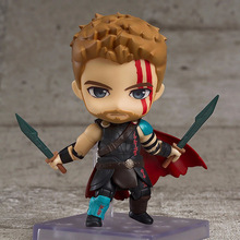 цены на GSC 863 Thor Ragnarok Marvel Comics Change Face Clay Q Doll PVC Action Toy Figures Anime Figure Collectible Figurines Hot Sale  в интернет-магазинах