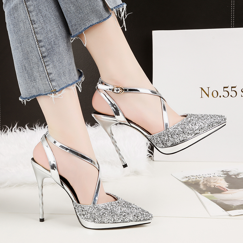 2018 Summer Women Glitter 10cm Extreme High Heels Gold Sliver Sandals Lady  Fetish Heels Pumps Female 918dce503d12
