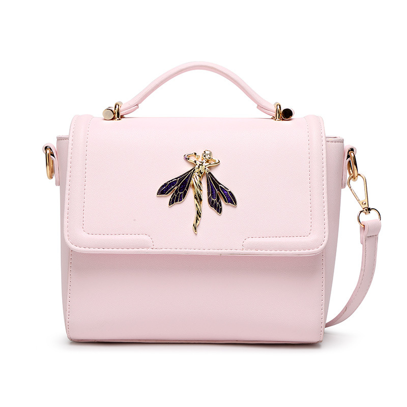 2017 Top Fashion Women Messenger Bags Small Totes Diamonds Dragonfly Handbag Cro