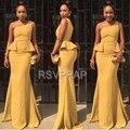 Longo Vestido de Noite 2017 Elegante Estilo Sereia de Um Ombro Vestidos Formais Africanos Mulheres Nova Chegada Vestidos de Noite Formais