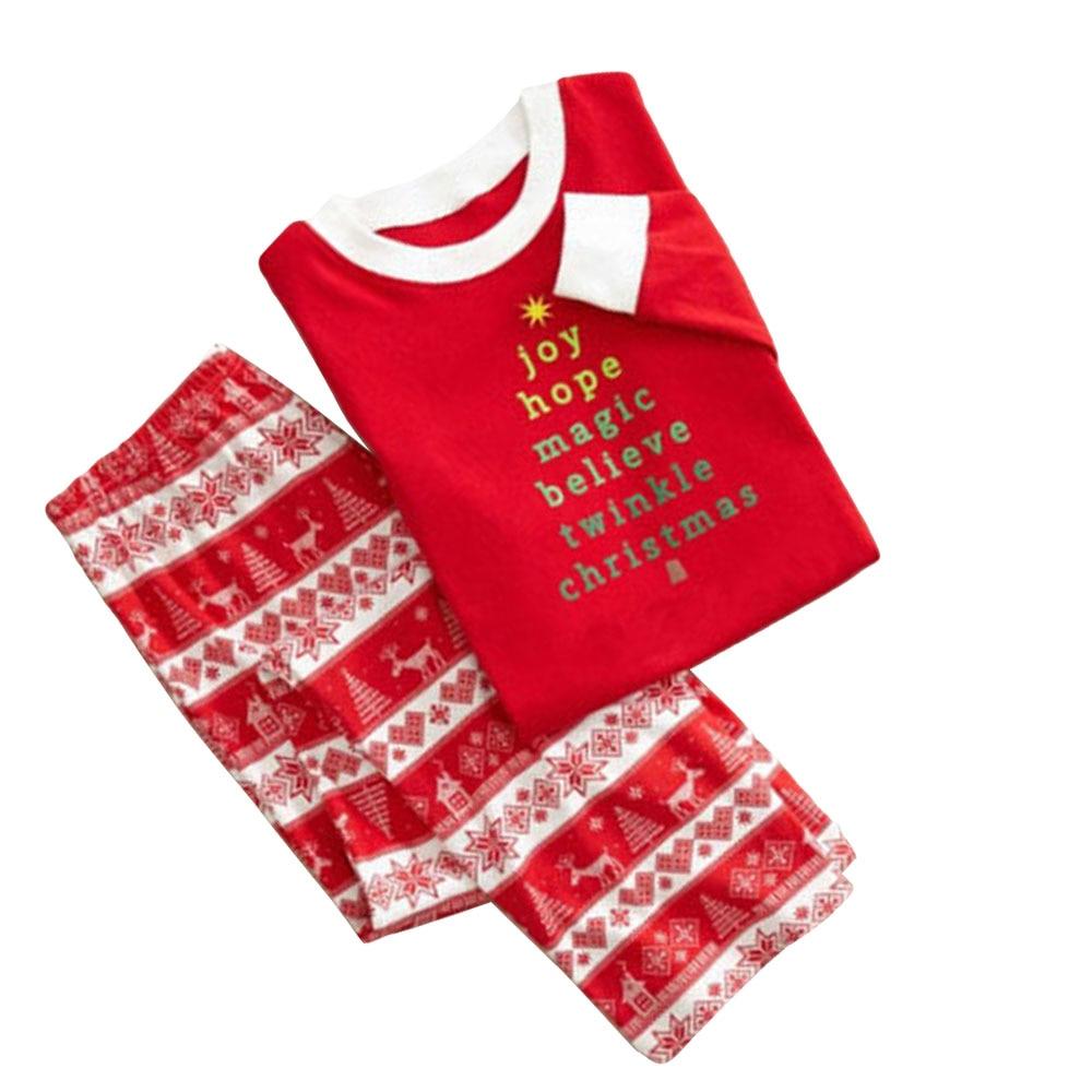 Family Matching Christmas Pajamas Set Men\'s Women Kids Sleepwear ...
