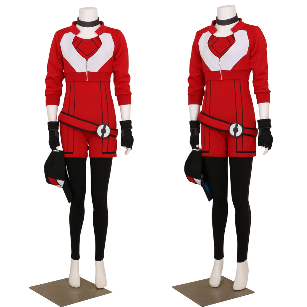 Halloween 2017 New Women's Hoodie for Pokemon Go Red Team Valor Instinct Mystic Cosplay Costume High Quality Deluxe Custom Made