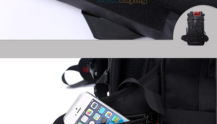 KAKA Men Backpack Travel Bag Large Capacity Versatile Utility Mountaineering Multifunctional Waterproof Backpack Luggage Bag 24