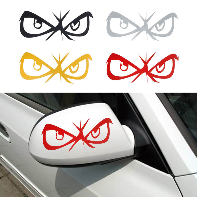 CARPRIE Hot selling 3d Funny Fashion Eyes Design 3D Decoration Sticker For Car Side Mirror Rearview Dropship J30