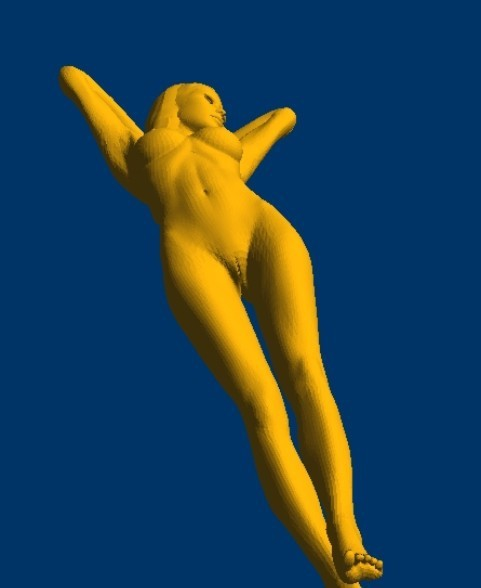 New 3D Model For Cnc 3D Carved Figure Sculpture Machine In STL File Format Naked Woman-1