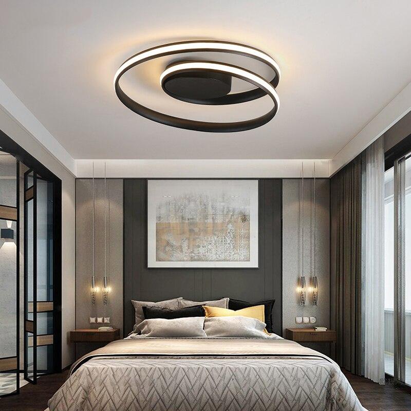 Blanc/noir plafond moderne à LEDs lampe salon chambre salle à manger en aluminium gradation éclairage à la maison luminarias dero plafonnier