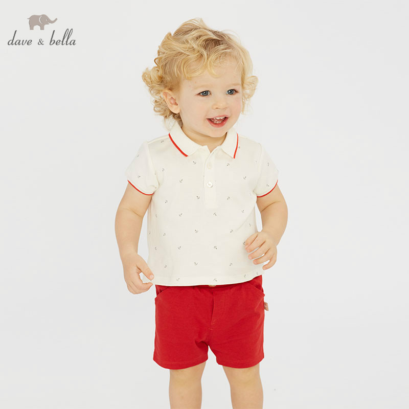 DB10760 dave bella summer baby boy clothes children clothing sets infant toddler high quality tops+shorts  2 pcs suitsDB10760 dave bella summer baby boy clothes children clothing sets infant toddler high quality tops+shorts  2 pcs suits