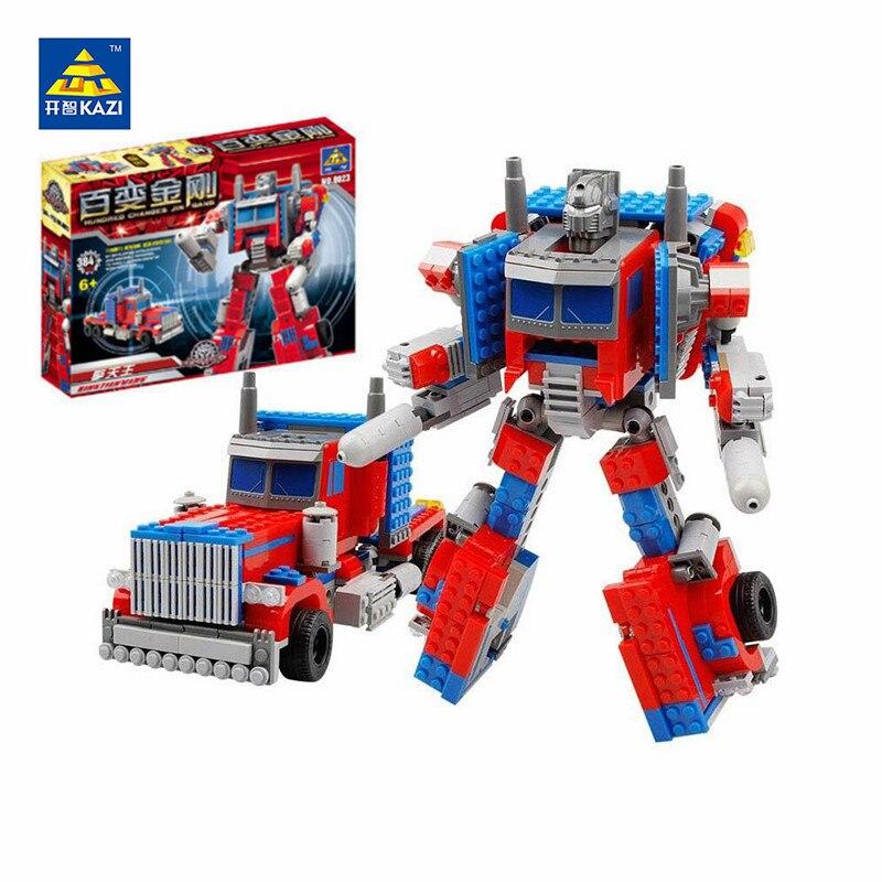 Kaizi 8023 Robot Series 384pcs Movie Robot 2 In 1 Building Blocks Sets Compatible Legoings Bricks Educational Toys For Children Fragrant Aroma Blocks
