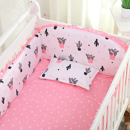 6PCS New Arrived Cartoon Baby bedding sets bumper,100% cotton cartoon crib baby bumper (bumper+sheet+pillow cover)