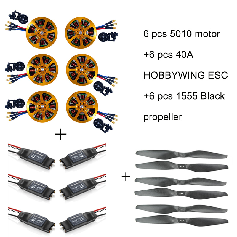 6pcs TYI MOTOR 5010 280KV Brushless Motor +6pcs 40A ESC +6pcs 1855 Propeller-in Parts & Accessories from Toys & Hobbies