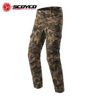 SCOYCO мотоциклетные штаны камуфляжные мотокроссу брюки падение защиты Moto отдыха Pantalones Мотоцикл Джинсы