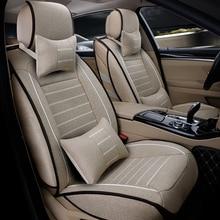 цена на High quality linen Universal car seat cover For Fiat Ottimo 500 Panda Punto Linea Sedici Viaggio Bravo Freemont car accessories