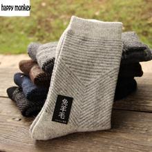 10 штук, 5 пар, новинка, зимние теплые носки, мужские шерстяные носки с кроликом, мужские носки со стрелками, чистый цвет, удлиненные шерстяные носки