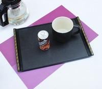 Black Rectangular Tray Tea Tray Plastic Tray Fruit Plate Rooms Disk Japanese Style Skid Plate Melamine