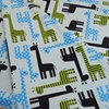 High Quality Fabric Free Shipping Giraffe Design Digital Print Minky Fabric For Baby Blanket Baby Bibs