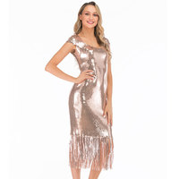e214ac4f3 Great Gatsby Dress Sequined Vintage Gold Dresses Women Beaded Flapper Dress  Sequined Art Deco 1920s Party