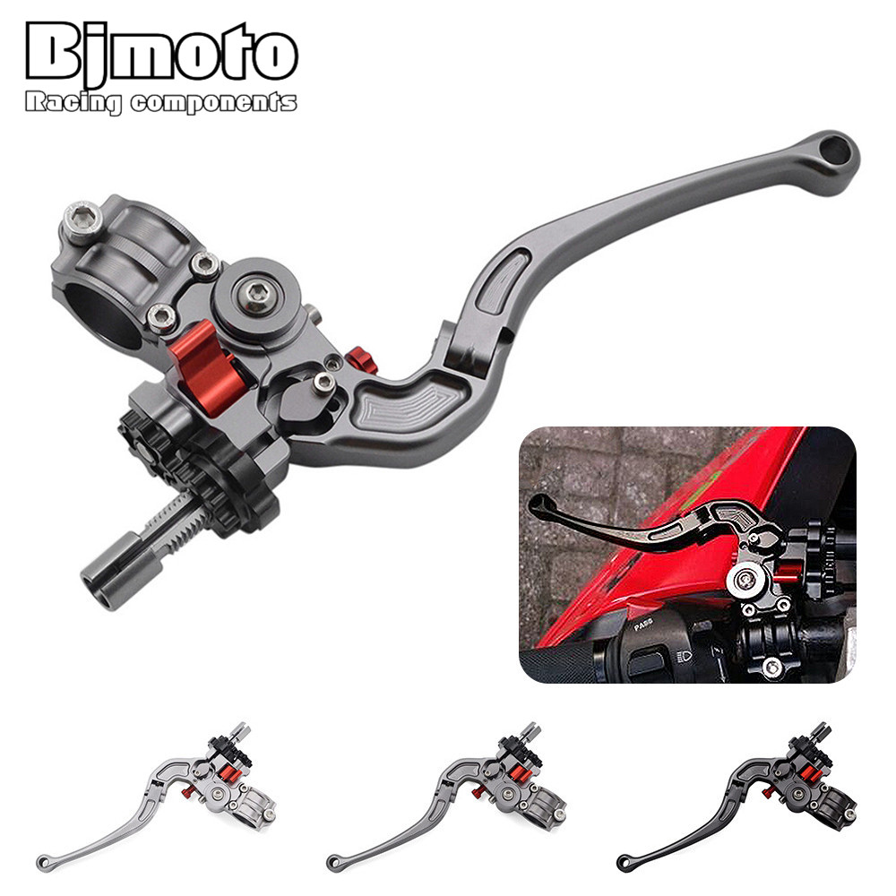 BJMOTO 2018 New Universal 7/8 22MM Handlebar CNC Foldable Adjustable Cable Clutch Lever For Street Bike Supermoto Motocross motorcycle universal cnc billet pivot foldable clutch levers 22mm 7 8 dirt bike motocross enduro supermoto black