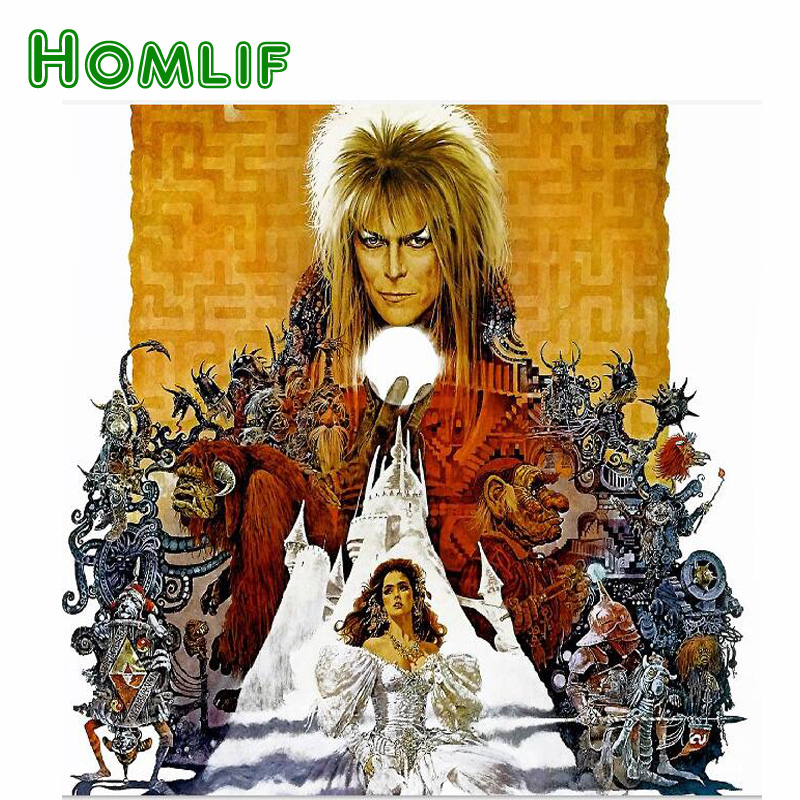 HOMLIF Labyrinth 5D DIY diamond painting David Bowie Jennifer Star cross stitch 3D diamond embroidery set needle decor gift HOMLIF Labyrinth 5D DIY diamond painting David Bowie Jennifer Star cross stitch 3D diamond embroidery set needle decor gift