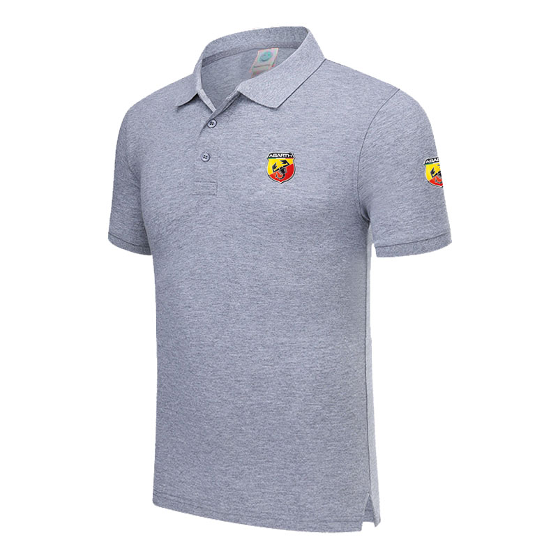 New Brand Abarth logo   polo   shirt Men Short Sleeve Mens Cotton   Polo   Homens printed Casual   polo   shirt