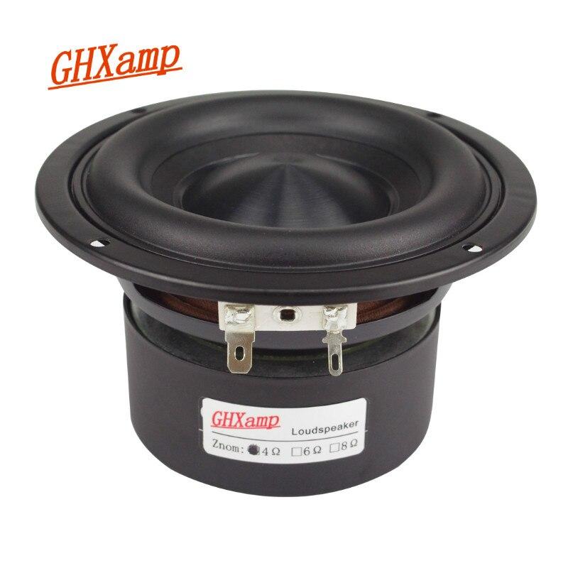 Ceramic Cap 4 inch 116mm Subwoofer Speaker Unit 50W Black Diamond Alumina Cap Woofer LoudSpeaker Desktop Deep Bass NEW 1PCS mobile phone