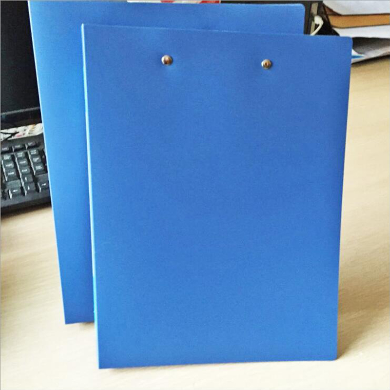 Office Supplies Stationery Blue Folder Double Strong Folder Information File Finishing Folder A4 Student Desktop Finishing Clip