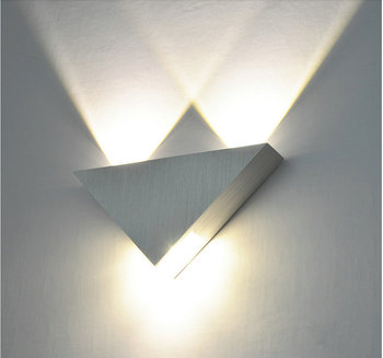 Modern Led Wall Lamp 3W Aluminum Body Triangle  1