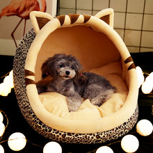 Warm Puppy House For Small Dog Cat Sleeping Kennel Soft Home Pet Cats Bed Nest Washable Dogs Mat Pets Foldable House Bed Product hot dog house nest with mat foldable pet dog bed cat bed house for small medium dogs travel pet bed bag product
