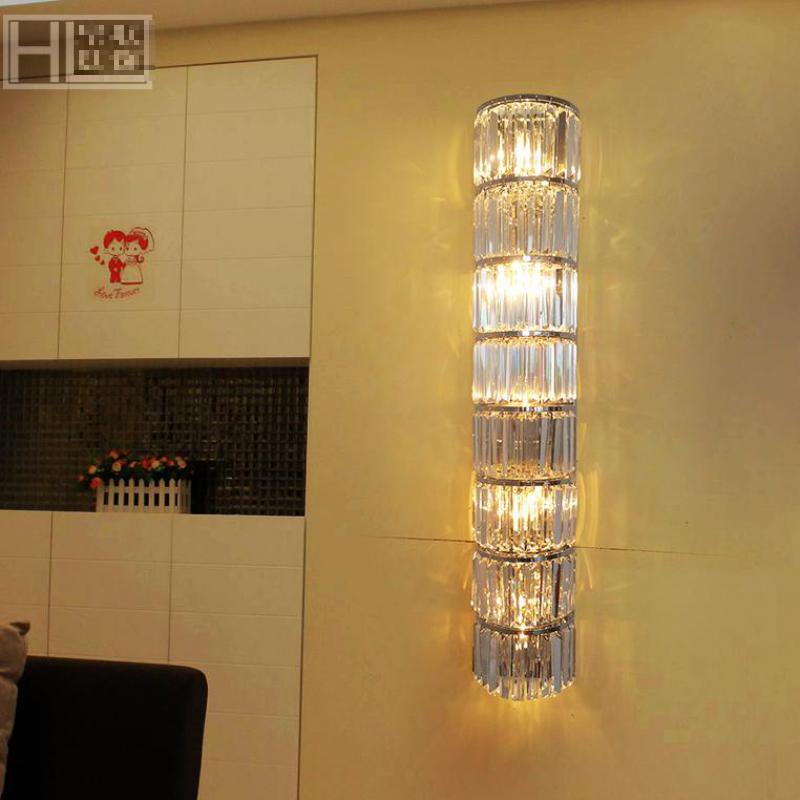 Салон современный ТВ сбоку кристалл настенный светильник бра проект зал праздник света 60 160 см XL Большой дорожки света e14 Светодиодный свети