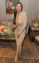 2017 Sexy Inspiriert durch Kerry Washington Promi Kleid Roten Teppich Kleid Meerjungfrau V-ausschnitt Champagne Günstige Abendkleid Kleid