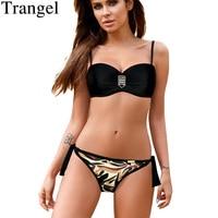 Trangel Brand Bikini Push Up Swimsuit Women Bikini 2017 Sexy Print Swimwear Women Bandeau Biquini Halter