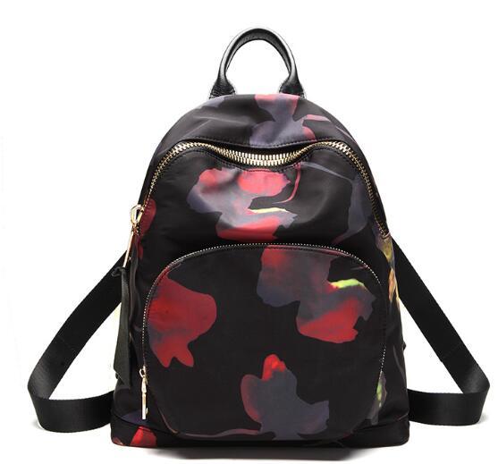 Amasie nouveau arrvial sac à dos noir vintage femmes sac double devrait sac pack de causalité sac nylon sac en cuir 3 taille EGT0346
