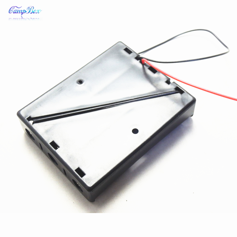 50Pcs 3x18650 Battery Case Holder Socket Wire Junction Box With 15cm Wires