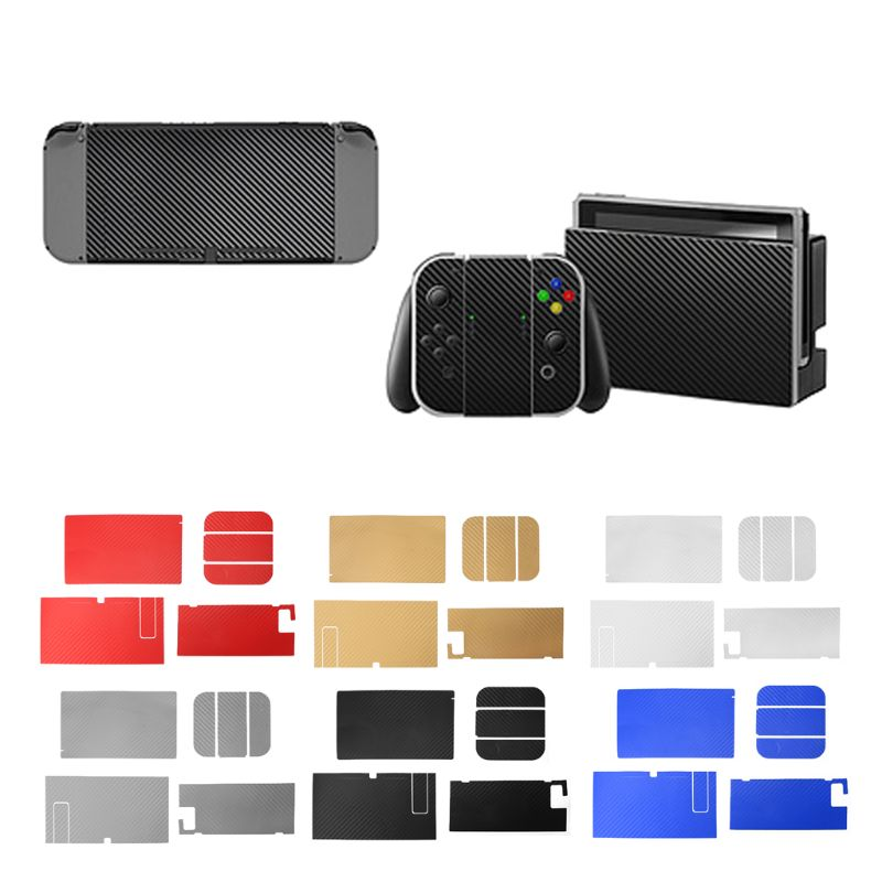 Carbon Fiber Skin Full Wrap Sticker Decal Protector Vinyl Game Protective Skin Sticker For Nintend Switch NS Console