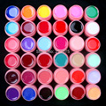 Hot DIY 36 Pcs Mix Colors Solid Pure UV Builder Gel Set for Acrylic Nail Art Tips Pink