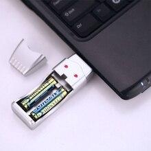 ФОТО ootdty dual-slot aa/aaa ni-mh ni-cd rechargeable battery charger adapter dc1.4v usb plug