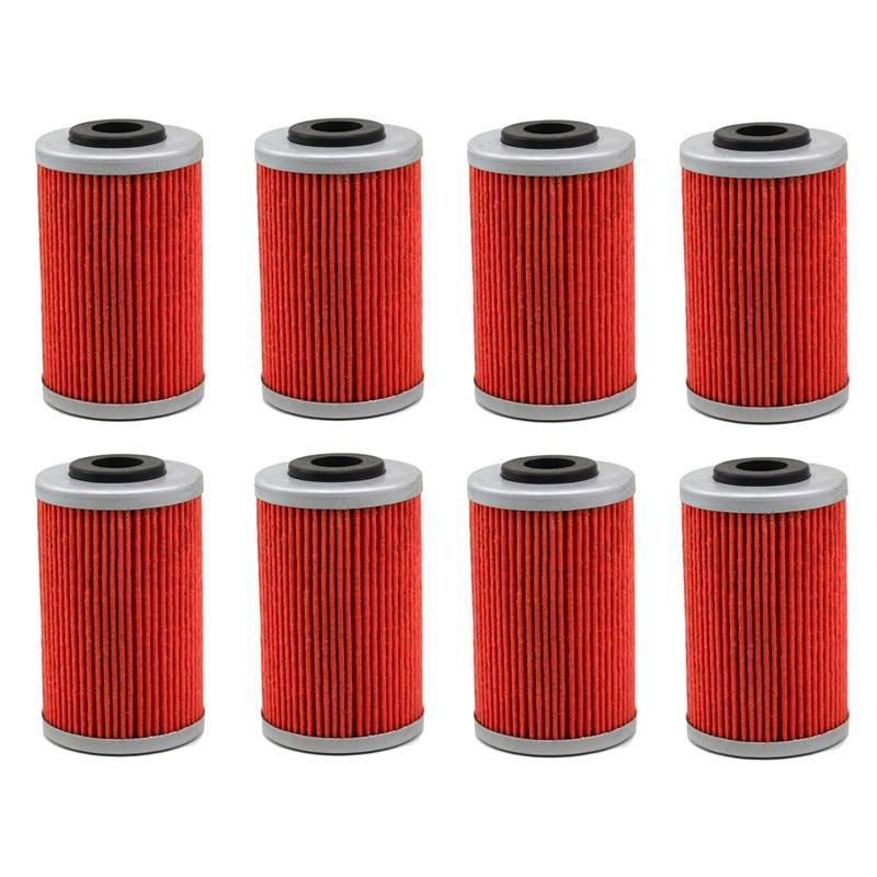 8 шт. части двигателя мотоцикла масляные сетки фильтры для KTM 450 EXC шесть дней 450 2012- мотоцикл фильтр