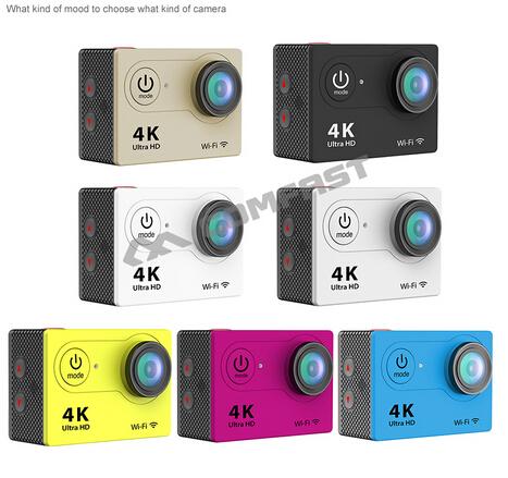 """Prix pour Ultra Full HD Upgrated 4 K H9 WIFI Caméras D'action 2.4G Télécommande 1080 P 2 """"LCD Sport Vidéo Caméra Caméscopes Casque Cam"""
