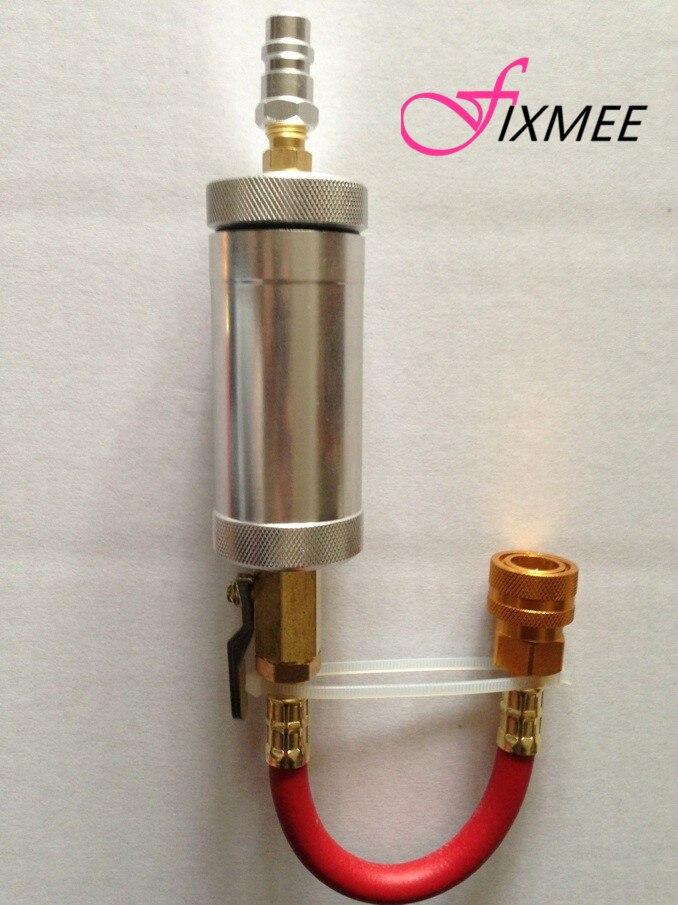 R134a Auto 2 oz Aluminum Air con & Refrigerantion oil injector filler tube tool