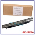 14.4V 37WH Korea Cell Original New Laptop Battery for ASUS A41-X550 A41-X550A X550 X550C X550B X550V X550D X450C X452 4CELL