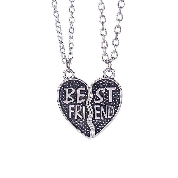 1 pair women men best friends necklaces pendants vintage for Best mens jewelry sites