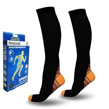 YISHENG Medical Support Leg Shin Socks for Varicose Veins Compression Socks Wrap Leg Shaping for Men Women(China)