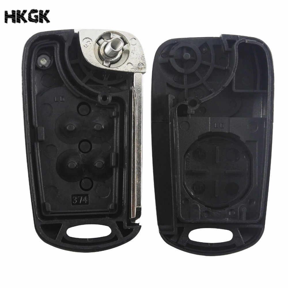 3 düğmeler Çevirme Katlanır Uzaktan Araba Anahtarı Kabuk Kapak Kılıf için Hyundai Solaris Accent Tucson l10 l20 l30 Kia Rio ceed Flip Case