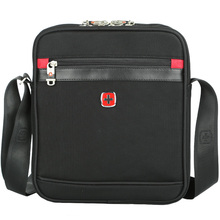 SCOGOLF hommes épaule sac noir sac bandoulière en nylon sling sac voyage/business pack SC-5200